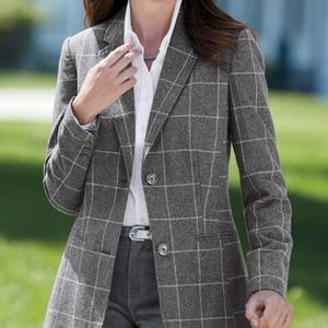 NWT Chadwick fully lined grey wool blazer